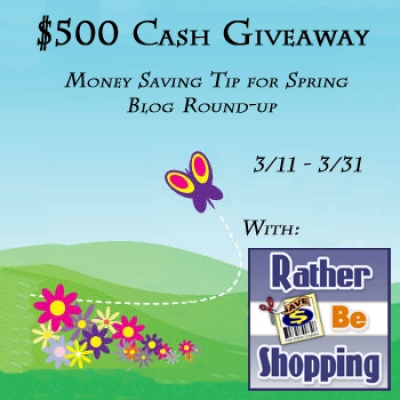 $500 Cash Giveaway – Save Money this Spring through Planning Ahead