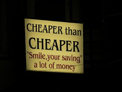 I'm Not Cheap, You're Broke!