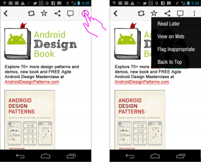 Design Patterns: C-Swipe: An Ergonomic Solution To Navigation Fragmentation On Android