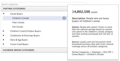 Facebook's Partner Categories Link Ad Targeting to Offline Purchases