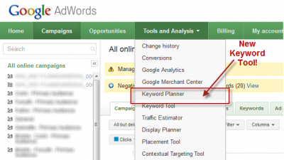 Meet AdWords Keyword Planner – The New Google Keyword Tool and AdWords Traffic Estimator Mash-up!