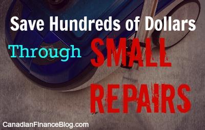 Save Hundreds of Dollars Through Small Repairs