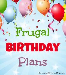 Frugal Birthday Plans
