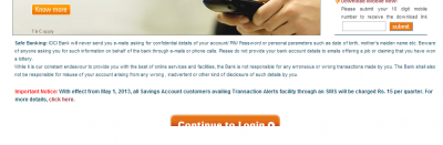Fees levied for SMS alert messages from Banks