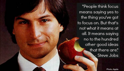 Steve Jobs and the power of focus + MORE