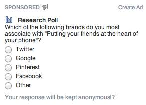 Facebook asking users about Facebook Home campaign, educate on product