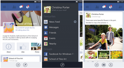 Facebook overhauls interface, adds high-res photos in Windows Phone update