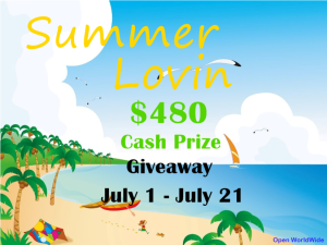 In The Summer I Spend the Most Money on Vacations-$480 Giveaway