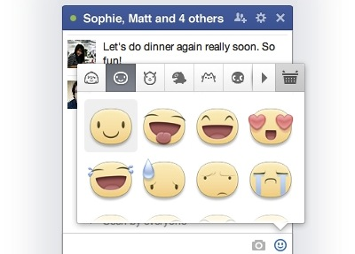 Facebook stickers now available in desktop chat
