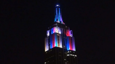 Watch the Empire State Building's Fourth of July Light Show