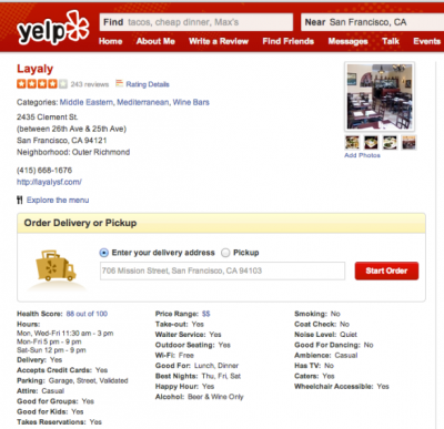 Good Review on Yelp? Order Lunch While You're Still on the Page
