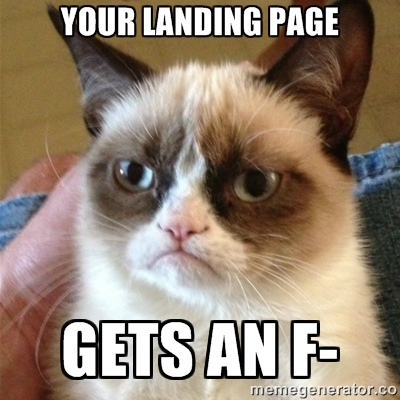 17 Landing Page Examples Get a Good Old Fashioned Roasting
