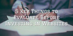 Investing in websites